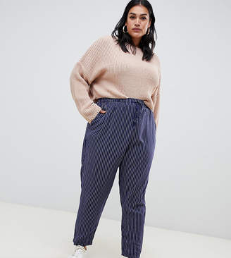 New Look Plus Curve Woven Jogger