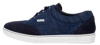Jimmy Choo Wingtip Suede & Canvas Sneakers