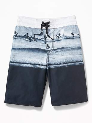 Old Navy Patterned Board Shorts for Boys