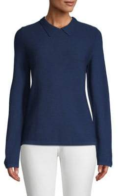 A.P.C. Mireille Crepe Collared Sweater