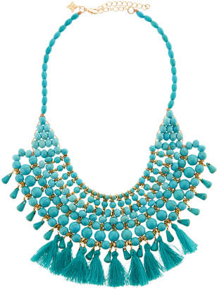 Panacea Turquoise Tassel Statement Necklace