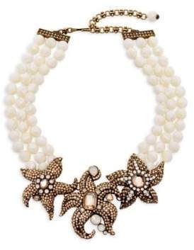 Heidi Daus Three Kings Of The Sea Crystal Beaded Statement Necklace