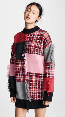 MSGM Mixed Media Sweater Dress