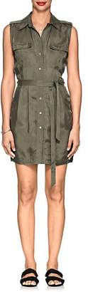L'Agence WOMEN'S EVELYN WASHED TWILL SHIRTDRESS - GREEN SIZE L