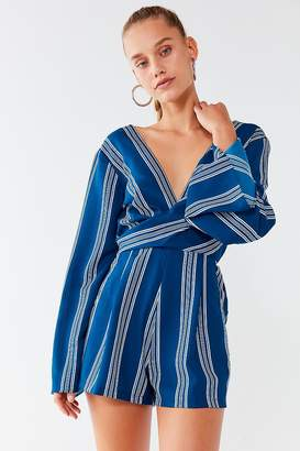 Urban Outfitters Striped Surplice Romper