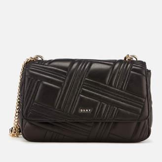 DKNY Women's Allen Large Flap Quilt Shoulder Bag