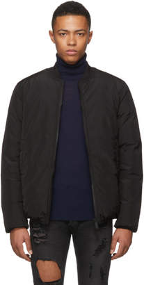 DSQUARED2 Black Down Nylon Bomber Jacket