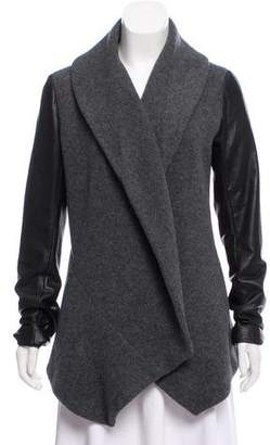 Theory Wool Open-Front Jacket