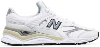 New Balance white X90 leather low-top sneakers