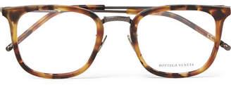 Bottega Veneta D-Frame Tortoiseshell Acetate And Gunmetal-Tone Optical Glasses