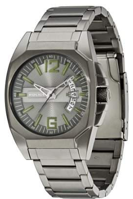 Police Men's PL-12897JSU/61M Interstate IP Stainless Steel Bracelet Watch