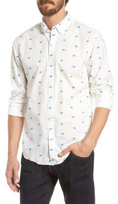 Bonobos Summerweight Slim Fit Azure Goldfish Print Sport Shirt
