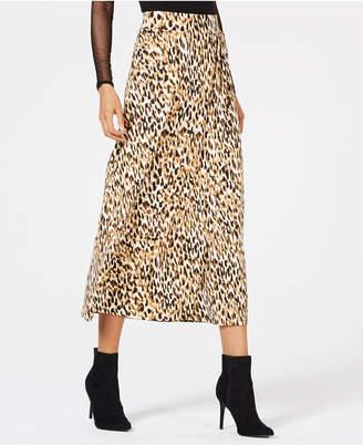 Thalia Sodi Leopard-Print Skirt, Created for Macy's