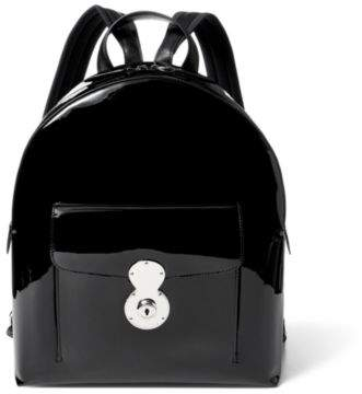 Ralph Lauren Patent Leather Ricky Backpack Black One Size