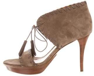 Ralph Lauren Purple Label Suede Platform Sandals