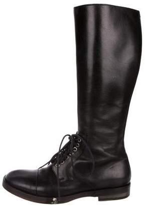 Maison Margiela Leather Tall Boots