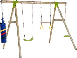 Plum Capuchin Wooden Swing Set
