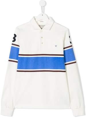 Hackett Kids contrast stripe polo shirt
