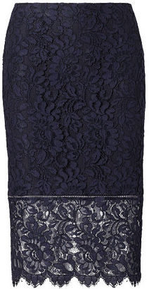 Polo Ralph Lauren Lace Pencil Skirt $245 thestylecure.com