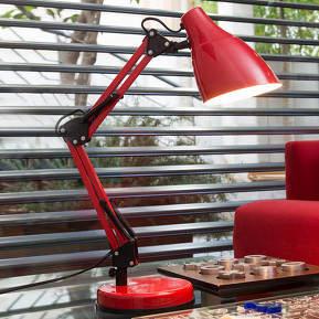 Rot lackierte Schreibtischleuchte Gru