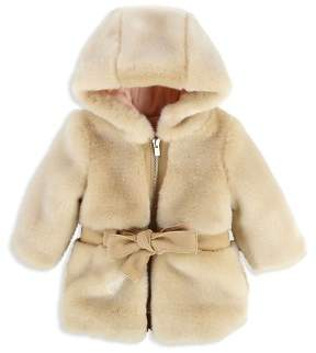 Chloé Girls' Faux Fur Hooded Coat - Baby
