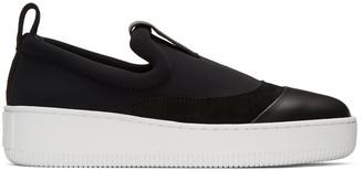 McQ Alexander McQueen Black Neoprene Neil Sneakers $320 thestylecure.com