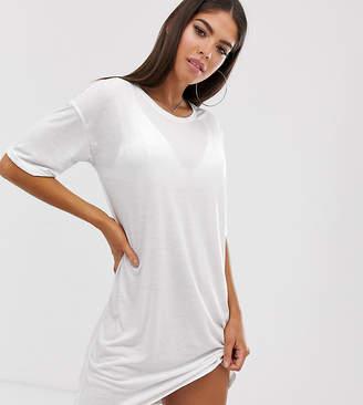 Noisy May Tall back logo t-shirt dress