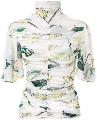 Diane von Furstenberg ruched floral top