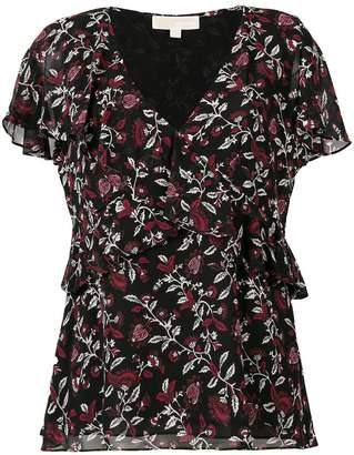 MICHAEL Michael Kors ruffled floral blouse