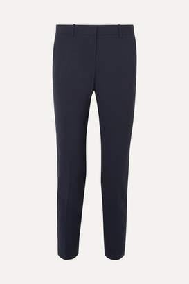 Theory Testra Wool-blend Crepe Slim-leg Pants - Navy