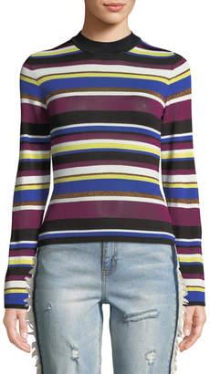 Rachel Roy Royal Back-Cutout Striped Sweater