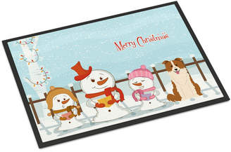 Caroline's Treasures Merry Christmas Carolers Border Collie Doormat Mat