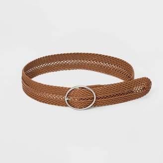Universal Thread Women's Wide Braided Belt Tan