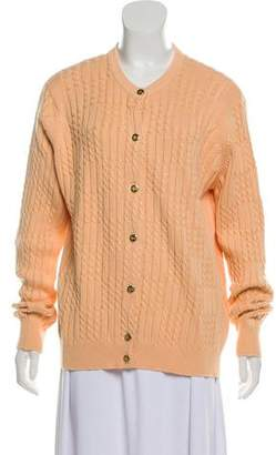Burberry Medium-Weight Button-Up Cardigan