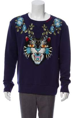 Gucci Tiger Embroidery Floral Sweatshirt w/ Tags