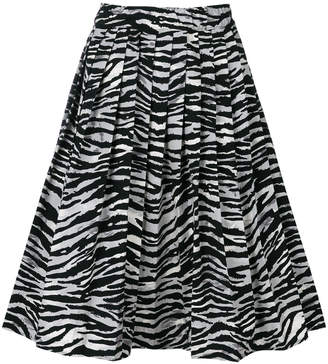 Prada full zebra skirt