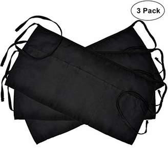 3 Pockets Cotton Waist Apron 3 Pack 24 x 12 inch Kitchen Restaurant Bistro Craft Garden Half Short Aprons For Men