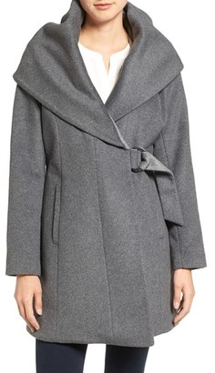 French Connection Wool Blend Wrap Coat $198 thestylecure.com