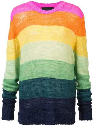 The Elder Statesman cashmere Flaco Inch Stripe jumper