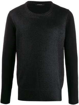 knitted wet look jumper