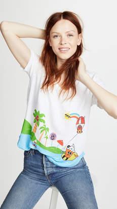 Mira Mikati Happy Beach Print Tee