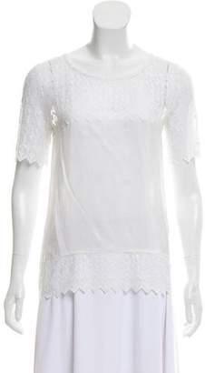 The Kooples Short Sleeve Silk Top