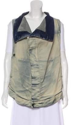 Rick Owens Button-Up Denim Vest