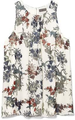 Vince Camuto Floral-print Trapeze Top