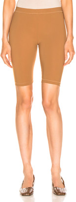 Nanushka Biker Shorts in Brown | FWRD