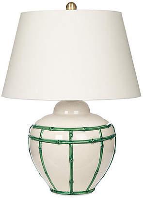 One Kings Lane Bradburn Home For Bamboo Table Lamp - Green/White