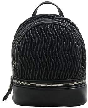 MANGO Zip-detail texture backpack