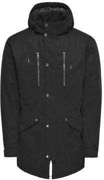 ONLY & SONS Solid Hooded Parka