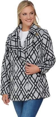 C. Wonder Diamond Print Long Sleeve Coat