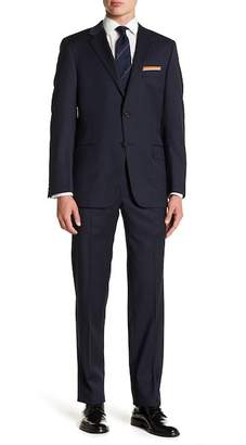 Hickey Freeman Classic Fit Two Button Notch Lapel Wool Suit